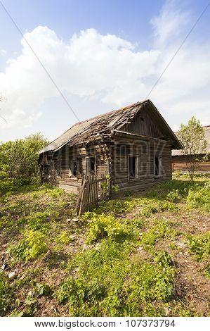 abandoned house . Belarus.