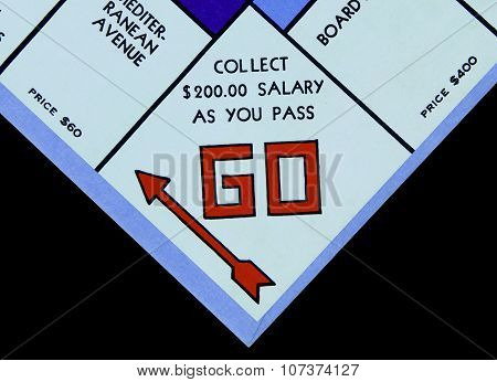 Monopoly Board Game Go Square