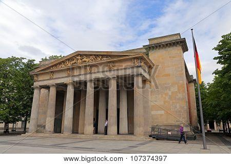 Berlin, Germany - July 27:  The Neue Wache Along Unter Den Linden (national War Memorial) In Berlin