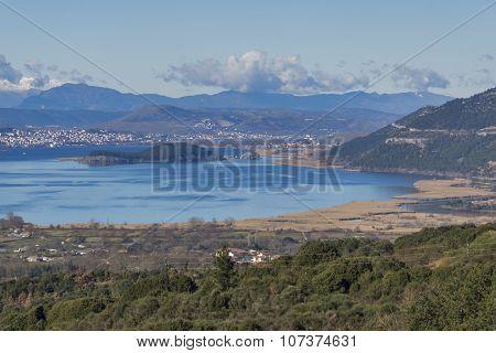 Panoramic views of Ioannina Lake, Epirus