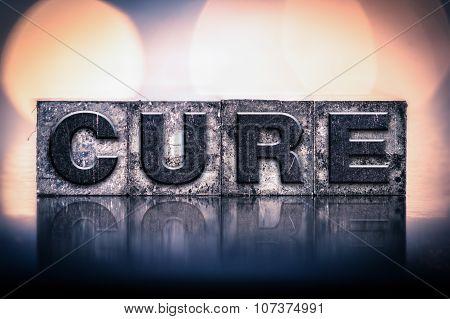 Cure Concept Vintage Letterpress Type