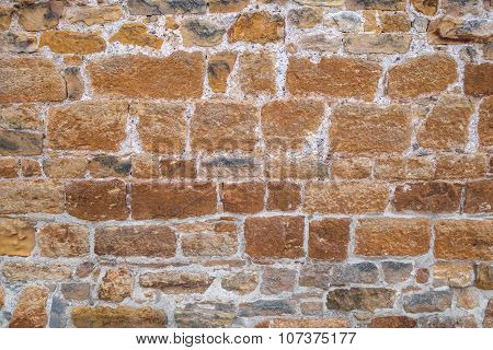Old brown wall with bluish nuances