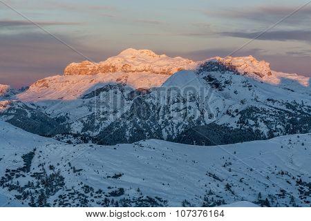 Sunrise In Gruppo Di Sella Dolomiti