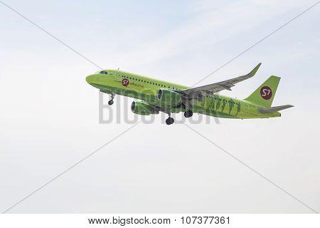 PRAGUE - 27 April 2015: Airbus A320 Take Off On The Runway In Prague