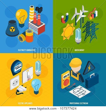 Electricity Isometric Set