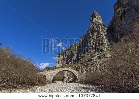 Bridge of Misios, Vikos gorge and Pindus Mountains, Zagori, Epirus