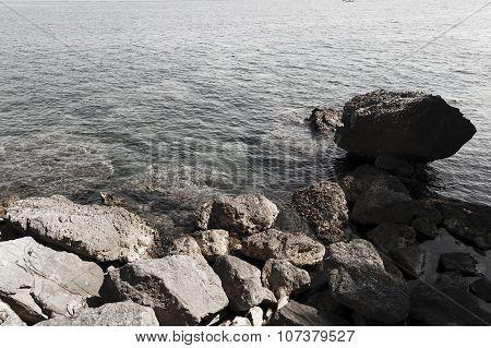 beach. close-up. Adriatic Sea