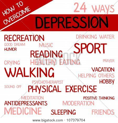 Sign With 24 Ways How Overcome Depression