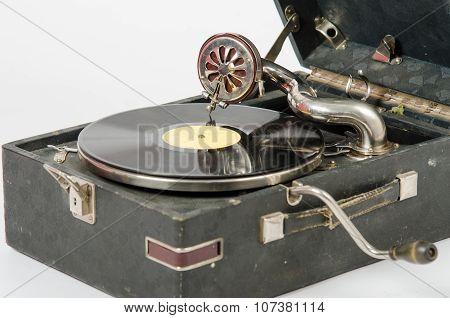 Internals Gramophone Close Up