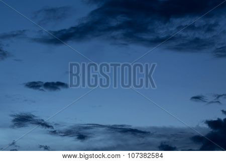 Black Cloud In Dark Night Sky Background
