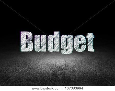 Money concept: Budget in grunge dark room