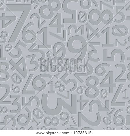 Abstract grey extruded random numbers seamless pattern