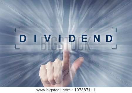 Hand Clicking On Dividend Button