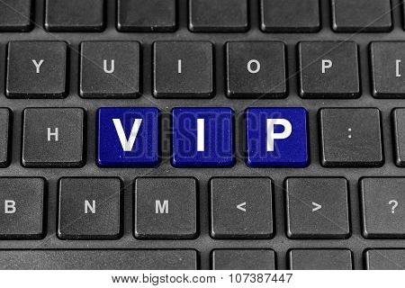 Vip Or Very Important Person Word On Keyboard