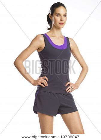 Beautiful And Determined Young Woman Ready For Sports