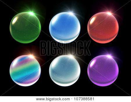 Crystal Ball Christmas Set Snowfall