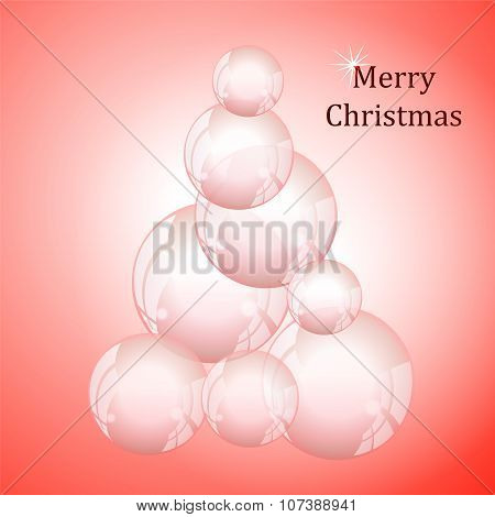Abstract Christmas Tree. Winter Background. Stock Vector
