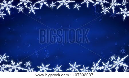 Board Of Snowflakes Background Blue