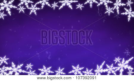Board Of Snowflakes Background Purple