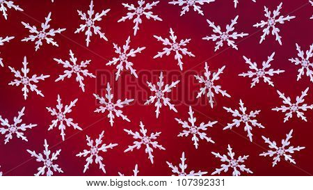 Snowflakes Background Rotation Red