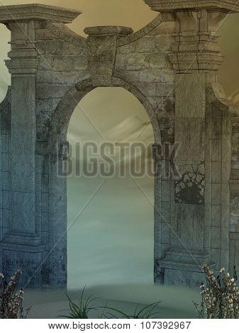 Magic Door In The Desert