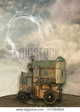 Fantasy Scene With Steam Punk Style