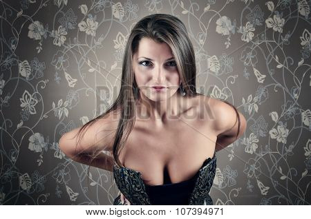 Portrait Of Sexy Young  Woman Looking At You
