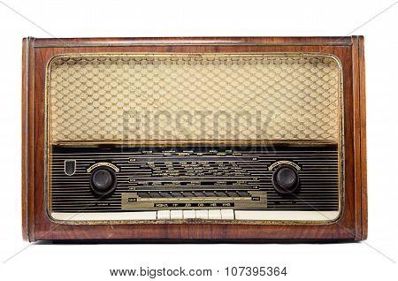 Vintage Radio Isolated On A White Background
