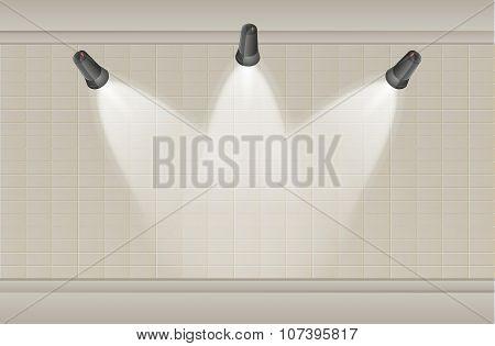 Three Lights And Wall