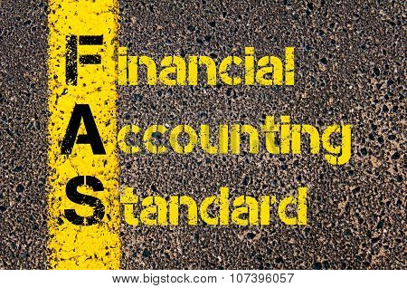 Business Acronym Fas As Financial Accounting Standards