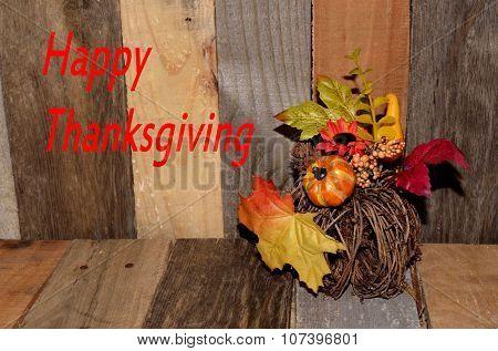 Happy Thanksgiving decoration