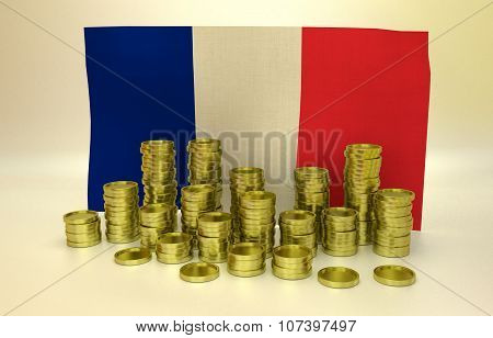 finance concept with French flag