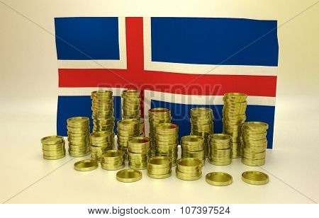 finance concept with Icelandic flag