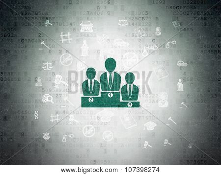 Law concept: Business Team on Digital Paper background