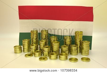 finance concept with Hungarian flag