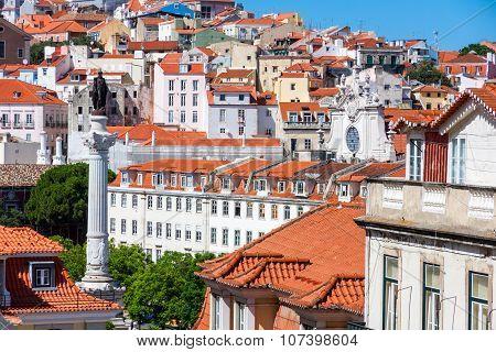 View Of Lisbon Historical City, Portuga