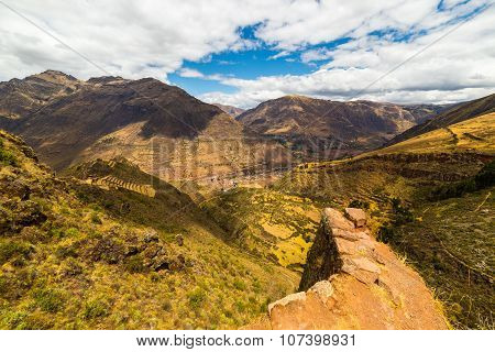 Majestic Landscape Of The Sacred Valley From Pisac, Peru