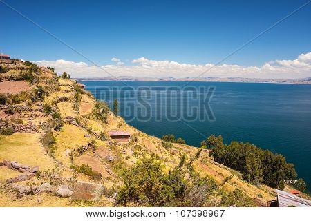 Landscape On Taquile Island, Titicaca Lake, Bolivia