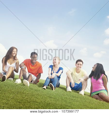 Teenage Celebration Friendship Togetherness Unity Concept