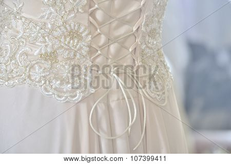 Beige Dress With Corset
