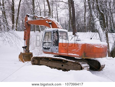 Excavator near Winter Park