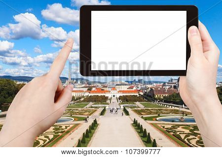 Photographs Garden Of Belvedere Palace In Vienna