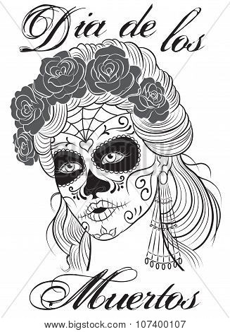 Dia de los Muertos-Day of the Dead girl.