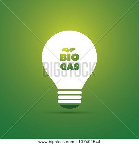 Bio Gas Energy Concept Design - Bulb Icon