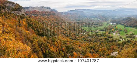 Collsacabra Range In La Garrotxa, Catalonia