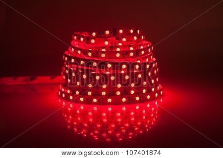 Red Glowing Led Garland, Strip
