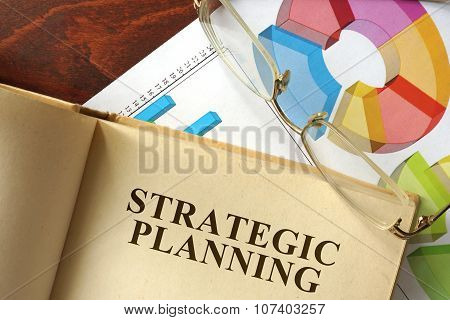 Tablet with strategic planning on a table.