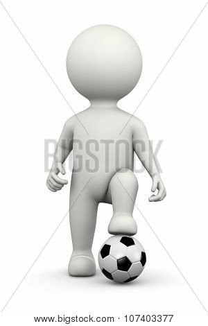 Football Player 3D Character