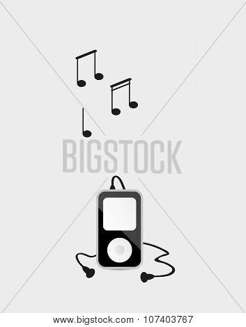 Music Device With Headphones