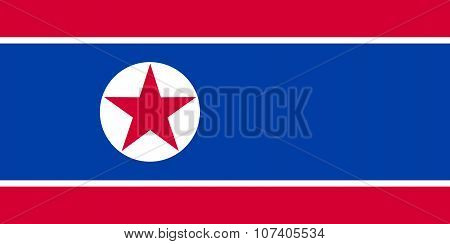 National Flag Of The Democratic People's Republic Of Korea (north Korea)